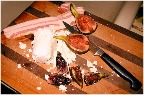 goat cheese figs bacon Favorite Savory Fig Recipe: Goat Cheese & Bacon & Figs, Oh My!