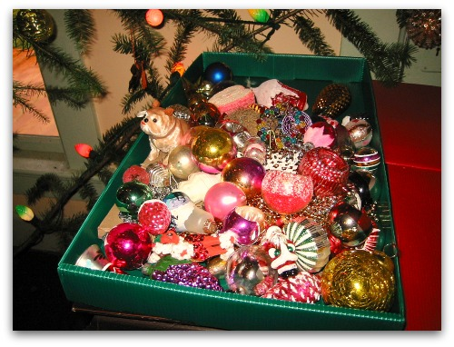 box of old glass Christmas ornaments Welcoming the Ghosts of Christmas Past