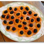 appetizer apricot blackberries