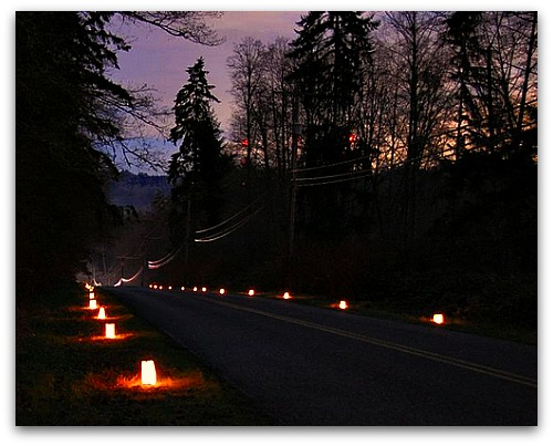 Vashon Paradise Valley Luminaries Welcoming the Ghosts of Christmas Past