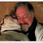 Tom and Boz the bulldog