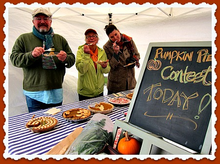 tom karen megan tasting pies Pumpkin Pie Judge: Best Job Ever!