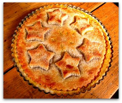 Shaker Lemon Pie Dressed as a Tart