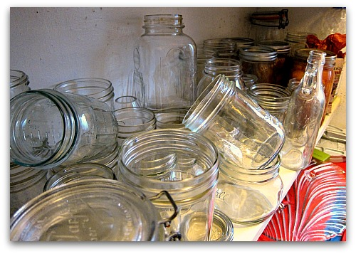 canning jars a jumble Storage Solutions: My Moms Bright (and Admittedly Good) Idea