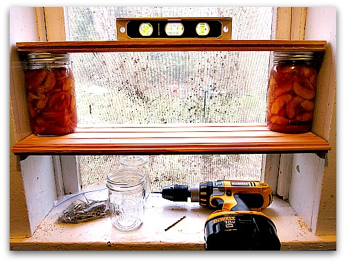 canning shelves DIY Storage Solutions: My Moms Bright (and Admittedly Good) Idea