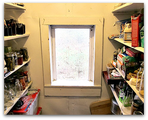 canning shelves pantry window Storage Solutions: My Moms Bright (and Admittedly Good) Idea