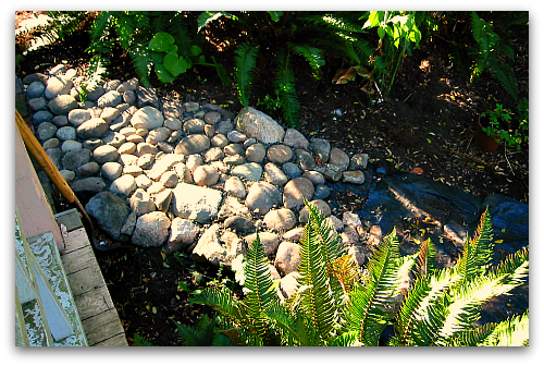 stone garden path Sticks and Stones Have Found a Home