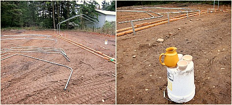 hoophouse construction poles When a Greenhorn Builds a Greenhouse