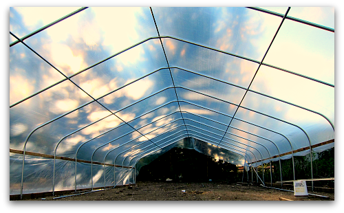 Hooping It Up: The Greenhouse Is Covered!