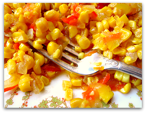corn relish fresh off the cob